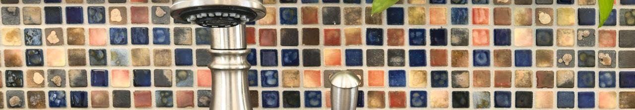 Louisville Interior Designer, Louisville Renovation Designer, Kitchen Renovation, Multi-Colored Backsplash, Stainless Appliances, Colorful Art, Hardwood Flooring, White Kitchen Cabinets, Granite Countertops, Stainless Fixtures, Beautiful Kitchen Renovation