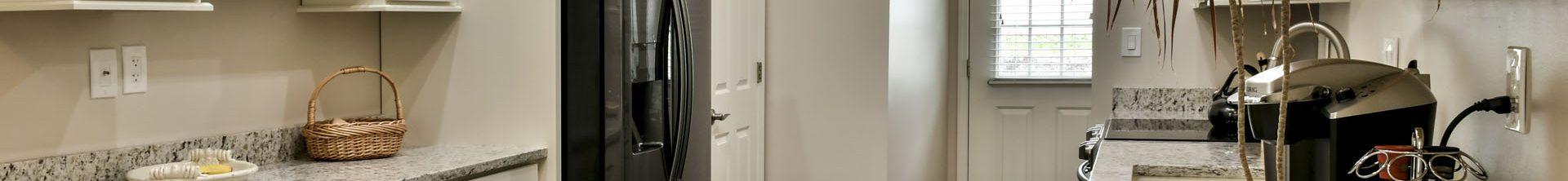 Louisville Interior Designer, Louisville Renovation Designer, Whole Home Renovation, White Kitchen Cabinets, Hardwood Flooring, Black Appliances, Light and Air, Kitchen Lighting, Granite Countertops, Bath Renovation