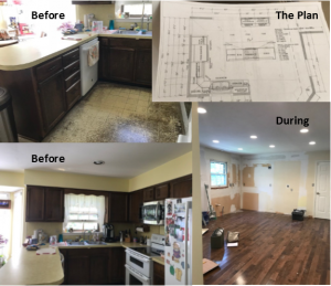 Kitchen Renovation, Before and During Renovation Photo